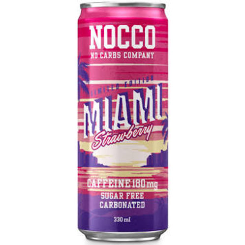 NOCCO Strawberry crate of 24 cans