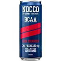 NOCCO Red Berries crate of 24 cans.