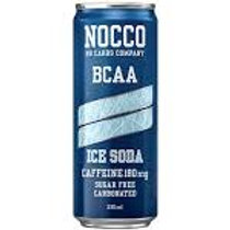 NOCCO Ice Soda crate of 24 cans