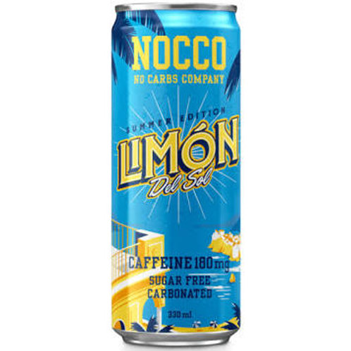 NOCCO Lemon crate of 24 cans.
