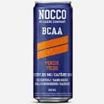 NOCCO Peach crate of 24 cans.