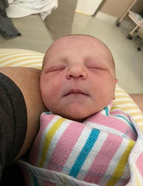 Brand new Australian grandchild - Pearl Payne - Gibbens