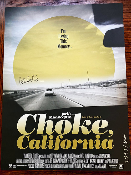 """""""Choke California"""" by Jack's Mannequin Poster"""