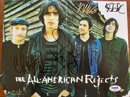 All American Rejects Poster Autographed