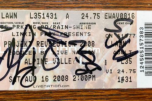 Projek Revolution Ticket Stub 2008 signed by Armor For Sleep