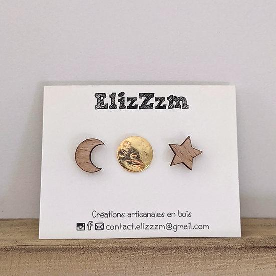 Boucles d'oreilles puces * zZzénith *