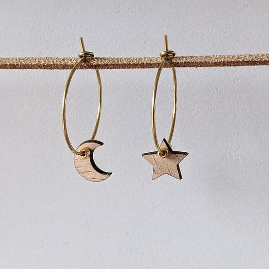 Créoles * Lune & étoile *