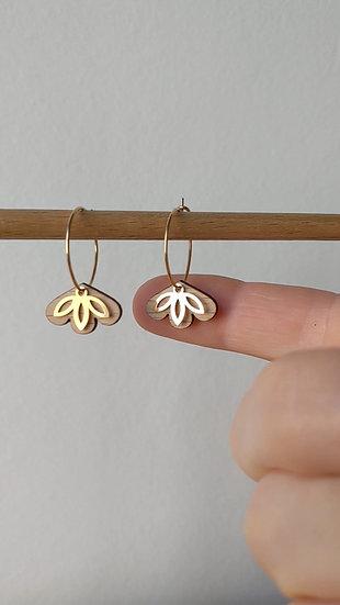 Boucles d'oreilles * Lotus *
