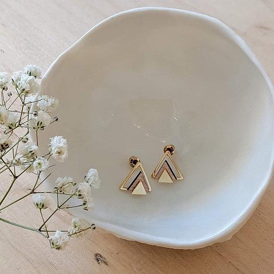 Boucles d'oreilles puces * Triangles *