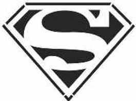 Superman Logo Mylar Stencil