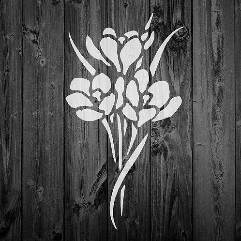 Flower Mylar Stencil 125/190 micron in A5/A4/A3 sizes (F14)