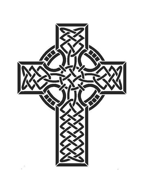 Celtic Cross Mylar Stencil