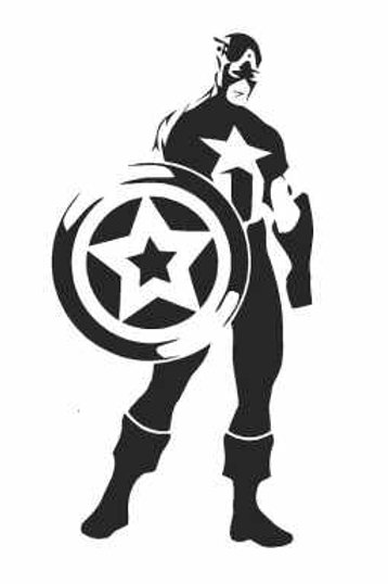 Captain America Mylar Stencil
