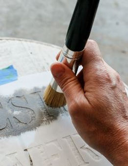 How to stencil. Painting a mylar stencil