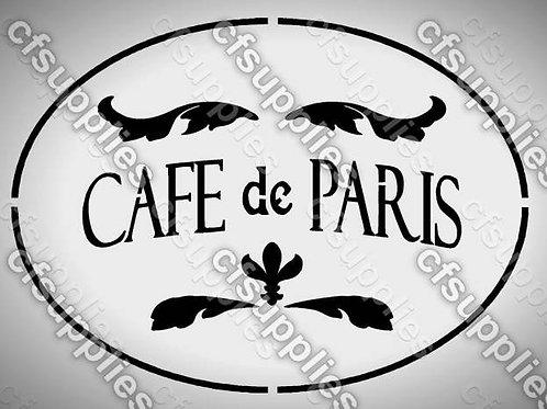 Cafe de Paris Shabby Chic mylar stencil