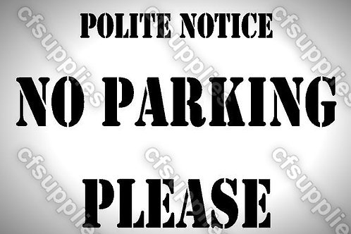 No parking Mylar Stencil Sheet