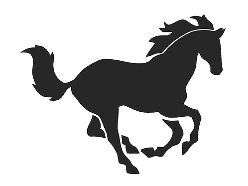 Galloping Horse mylar stencil 125/190 micron in A5/A4/A3 sizes