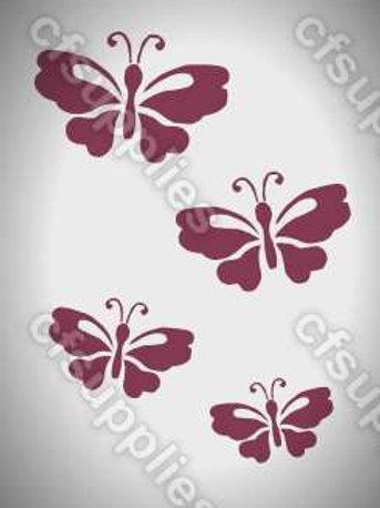 Butterflies Mylar Stencil