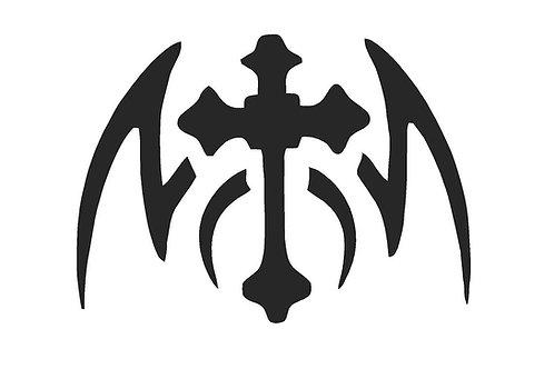 Gothic Cross Mylar Stencil