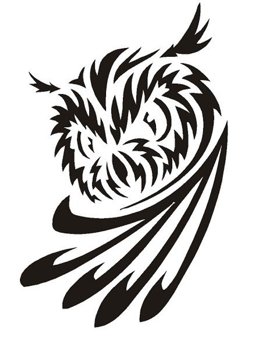 Owl Deco mylar stencil 125/190 micron in A5/A4/A3 sizes