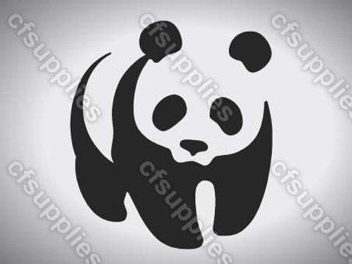 Panda Bear Mylar Stencil