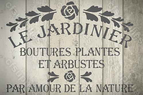 Le Jardinier Shabby Chic mylar stencil