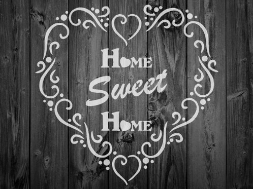 Home Sweet Home Shabby Chic mylar stencil