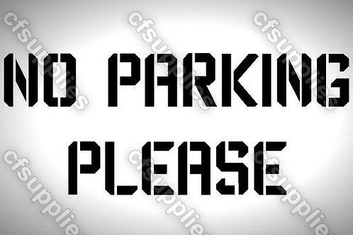 No parking Mylar Stencil Sheet