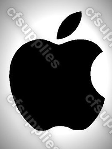 Apple Logo Mylar Stencil Sheet Design.