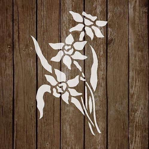 Flower Mylar Stencil 125/190 micron in A5/A4/A3 sizes (F9)