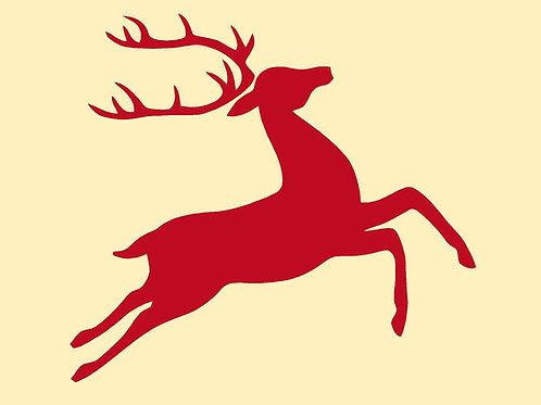 Reindeer Mylar Stencil Sheet