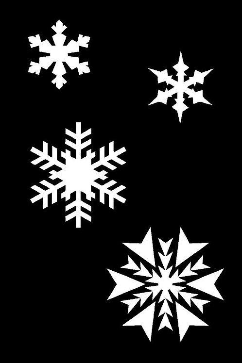 Snowflakes Mylar Stencil Sheet