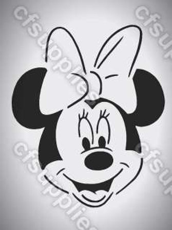 Mini Mouse, Disney Mylar Stencil