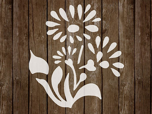 Flower Mylar Stencil 125/190 micron in A5/A4/A3 sizes (F12)