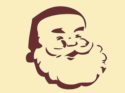 Santa Christmas Mylar Stencil Sheet