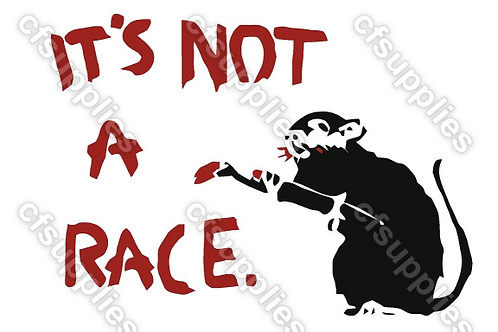 Banksy Rat Race Mylar Stencil