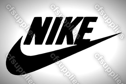 Nike Logo Mylar Stencil Sheet