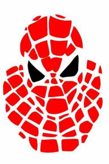 Spiderman Mylar Stencil