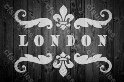 London Shabby Chic French Vintage Mylar Stencil