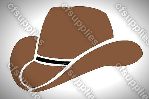 Cowboy Hat Mylar Stencil Sheet Design.