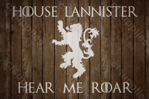 House Lannister Game of Thrones Mylar Stencil