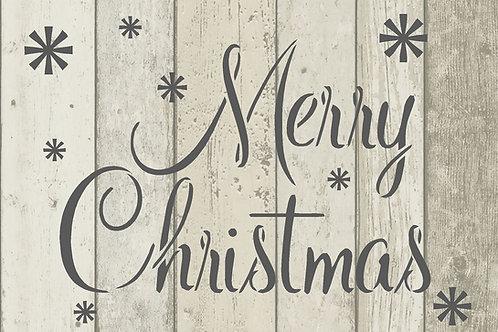 Merry Christmas Mylar Stencil Sheet