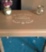 Shabby Chic Mylar stencil on furniture