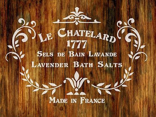 Le Chatelard Shabby Chic mylar stencil