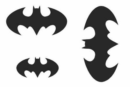 Batman Logos Mylar Stencil