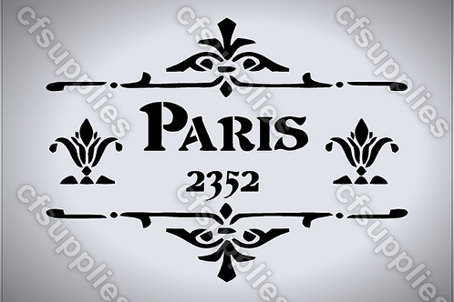 Paris French vintage Shabby Chic Mylar Stencil