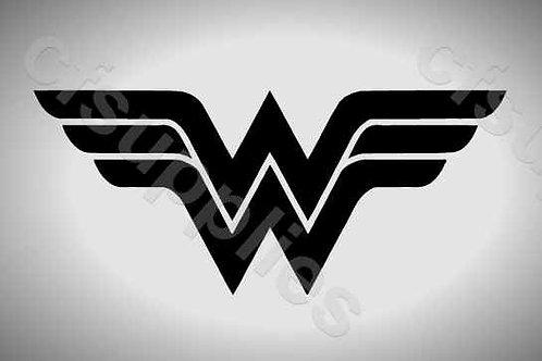 Wonder Woman Logo Mylar Stencil