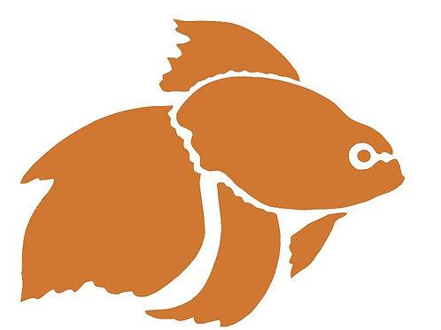 Goldfish mylar stencil 125/190 micron in A5/A4/A3 sizes