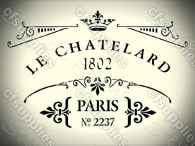 Le Chatelard Shabby Chic French Vintage Mylar Stencil