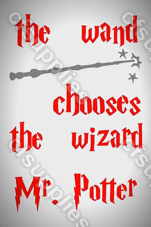 Harry Potter Mylar Stencil Sheet